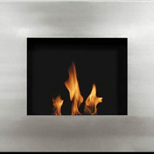 FP028W STAINLESS STEEL WALL MOUNTED FIREPLACE